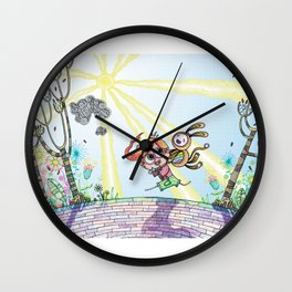 Laughing Along the Path - One Boy and a Toy Wall Clock