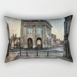 The Town Hall At Abingdon Rectangular Pillow