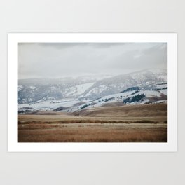 Snow Dusting Jackson Hole Art Print