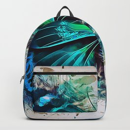 Blue Butterfly Art Backpack