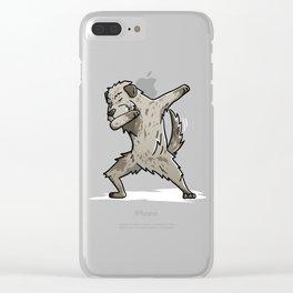 Funny Dabbing Irish Wolfhound Dog Dab Dance Clear iPhone Case