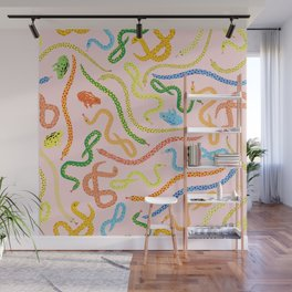 Snakes and Frogs Wall Mural