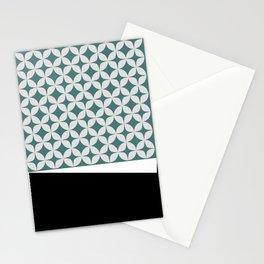 Mid Century Mint Star Bursts Stationery Cards