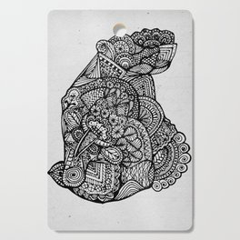 Sitting Hippo Doodle Cutting Board