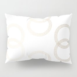 Simply Infinity Link in White Gold Sands on White Pillow Sham