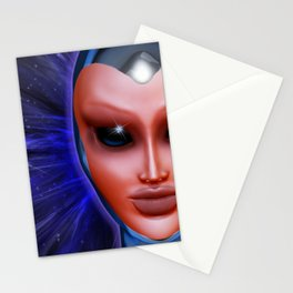 Blue Alien Mental Energy Stationery Cards