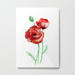 Poppy love Metal Print