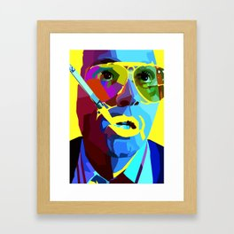 Fear And Loathing In Las Vegas Painting | Johnny Depp Framed Art Print