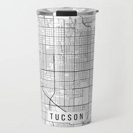 Tucson Map, Arizona USA - Black & White Portrait Travel Mug