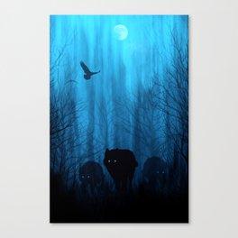 Wolf Pass: Cerulean Mist Canvas Print