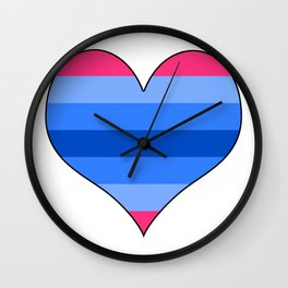 Trans Man Heart Wall Clock