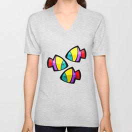 Color Fisch. Unisex V-Neck