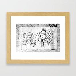 because tori Framed Art Print