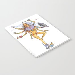 Modern Goddess Tools - Sexy Eight Armed Blonde Notebook