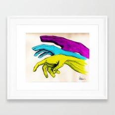 Painted Hands Framed Art Print
