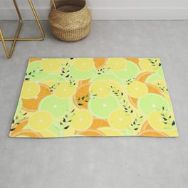 Lemon, Lime and Orange Slices Rug