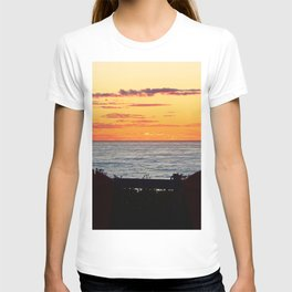 Sunset and the chairs T-shirt