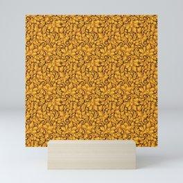 GOLD SCROLL Mini Art Print