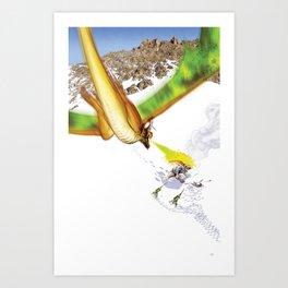 Dragon Attack Art Print