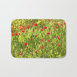 Flanders Poppies Bath Mat