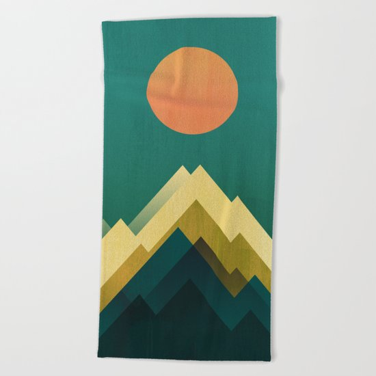 Gold Peak Beach Towel
