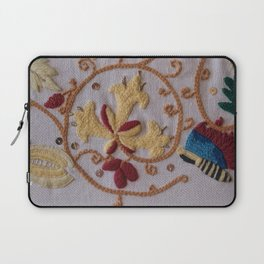 Elizabethan Embroidery Honeysuckle and Butterfly Laptop Sleeve
