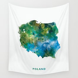 Poland Wall Tapestry