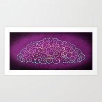 wtnv Art Prints featuring Glow Cloud by Noel Lenard Design