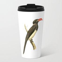 Coronated Hornbill Bird Illustration by William Swainson Travel Mug