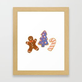 Holiday Cookies Framed Art Print