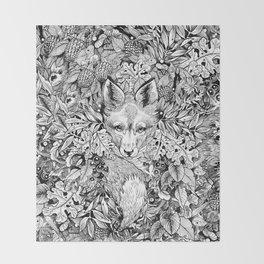 hidden fox Throw Blanket