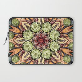 abstract red star hand drawn and kaleidoscope mandala Laptop Sleeve