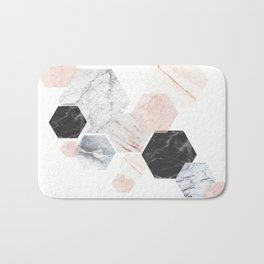 Lost in Marble Bath Mat