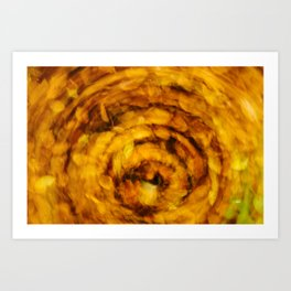 Fall Leaves Long Exposure Motion Abstract Art Print