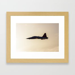 Turkish military acrobatic airplane in backlight Framed Art Print