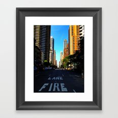 Street in NYC Framed Art Print