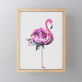 Flower Flamingo Framed Mini Art Print