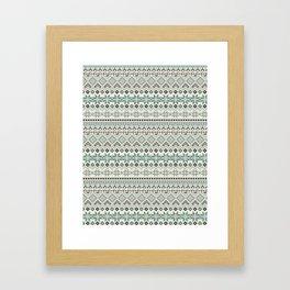 V40 Boho Vintage Anthropologie Pattern Framed Art Print
