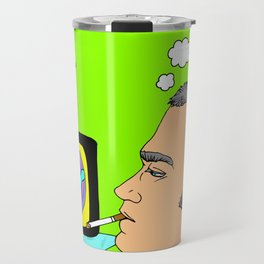 I Want my MTV the way it used to be, 90's Ewan McGregor Illustration Travel Mug