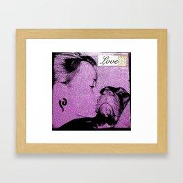 Rescue love Framed Art Print