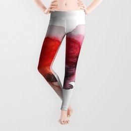 Watercolor heart Leggings