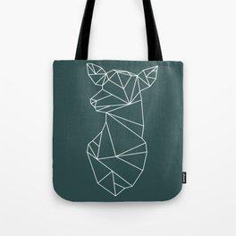 Geometric Doe (White on Slate) Tote Bag