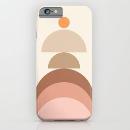 Abstraction Shapes 10 in Neutral Shades (Sun and Window abstraction) iPhone Case