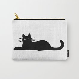 Black Cat Cute Carry-All Pouch