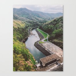 Fontana Dam • Appalachian Trail Canvas Print