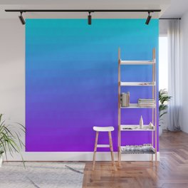 Blue and Purple Ombre Wall Mural