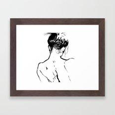Neckline Framed Art Print