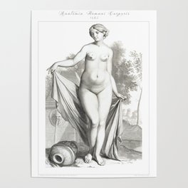 Human Anatomy Art Print WOMEN BODY FRONT Vintage Anatomy, doctor medical art, Antique Book Plate, Me Poster