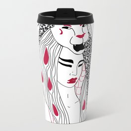 Leo / 12 Signs of the Zodiac Metal Travel Mug