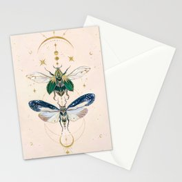 Moon insects Stationery Cards